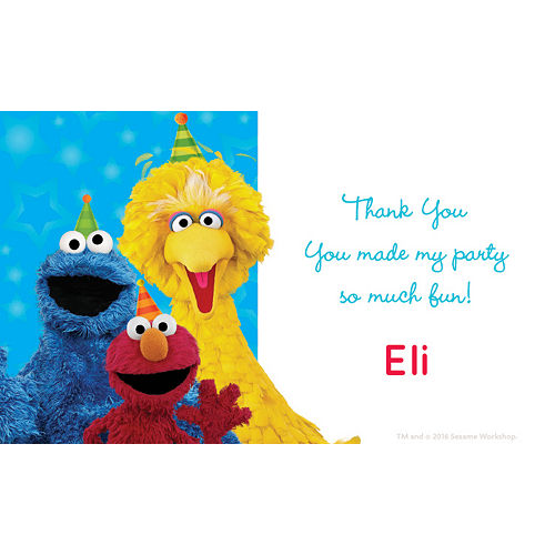 Custom Sesame Street Thank You Notes Image #1