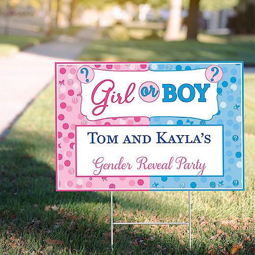 Custom Girl or Boy Gender Reveal Yard Sign Image #1