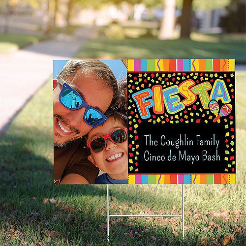 Custom Fiesta Fun Photo Yard Sign Image #1
