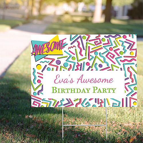 Custom Awesome Party Yard Sign Image #1