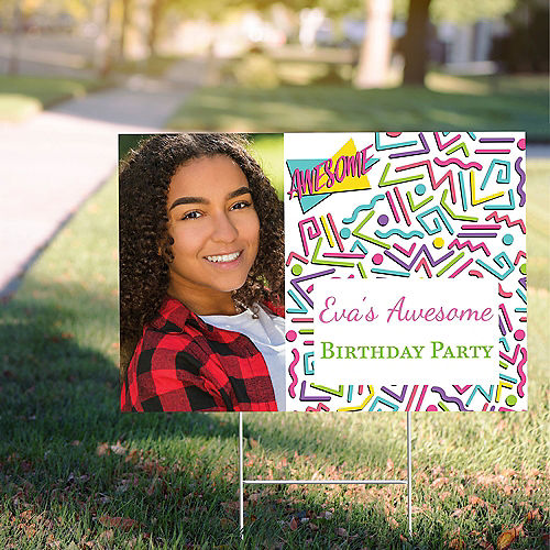 Custom Awesome Party Photo Yard Sign Image #1