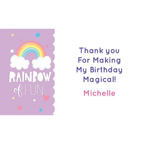 Custom Magical Rainbow Birthday Thank You Notes Image #1