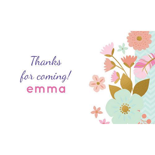 Custom Boho Floral Thank You Notes Image #1