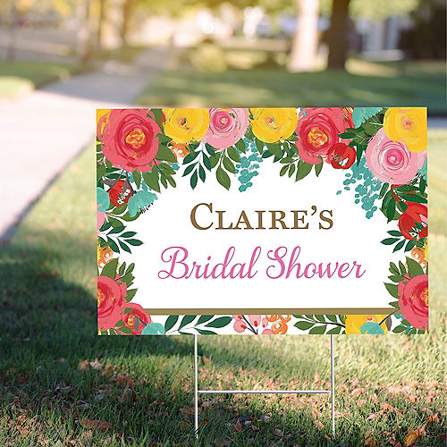 Custom Bright Floral Yard Sign Image #1