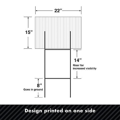 Custom Glitz & Glam Photo Yard Sign Image #2