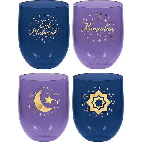 Ramadan Plastic Stemless Tumblers 4ct Image #1