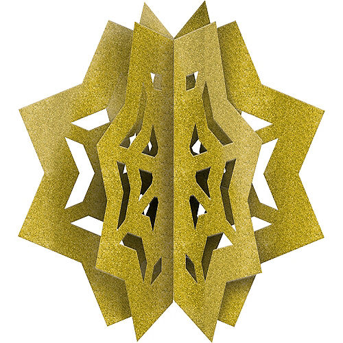 Nav Item for 3D Gold Glitter Eid Star Centerpiece Image #1