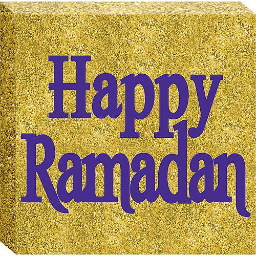 Glitter Gold Happy Ramadan Block Sign Image #1