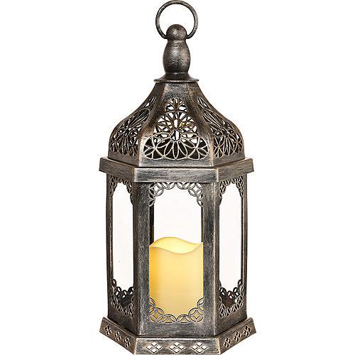 Eid Latika LED Candle Lantern, 7.5in x 15.1in Image #1