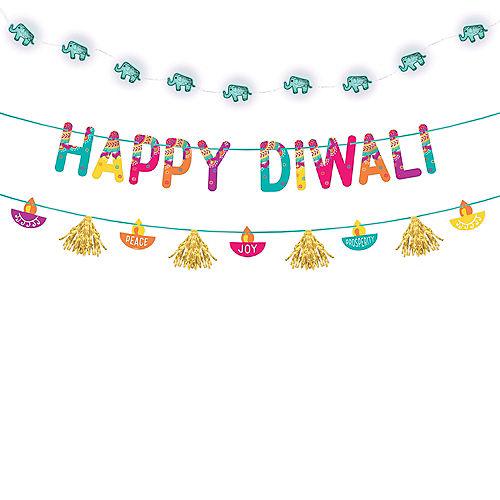 Diwali Light-Up Banner Kit Image #1