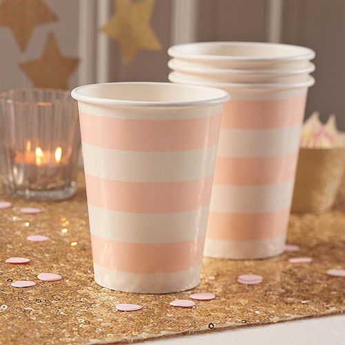 Super Ginger Ray Metallic Gold & Pink Party Kit for 16 Guests Image #4