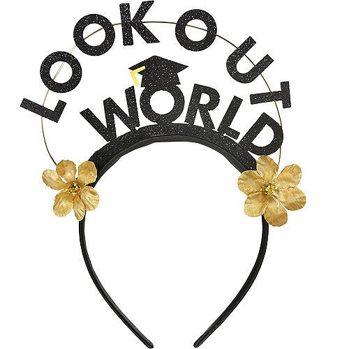 Look Out World Graduation Headband Image #1