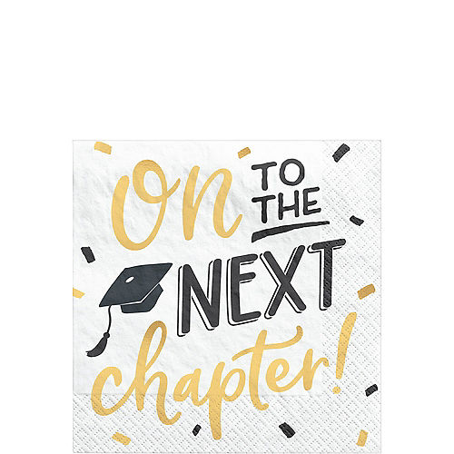 On to the Next Chapter Graduation Beverage Napkins, 5in, 16ct Image #1