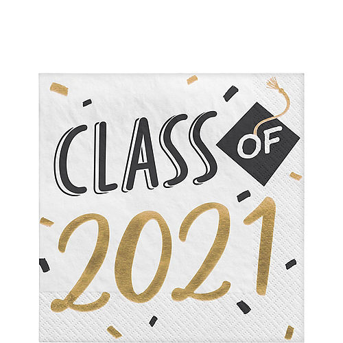 Class of 2021 Graduation Lunch Napkins, 6.5in, 16ct Image #1