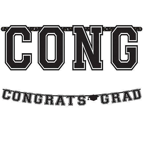 Black Congrats Grad Letter Banner Image #1