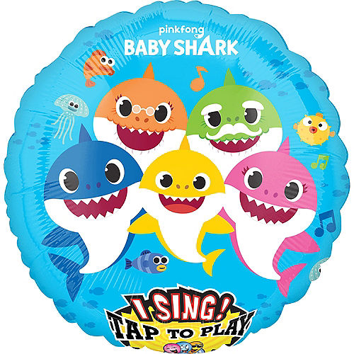Giant Singing Baby Shark Balloon Image #1
