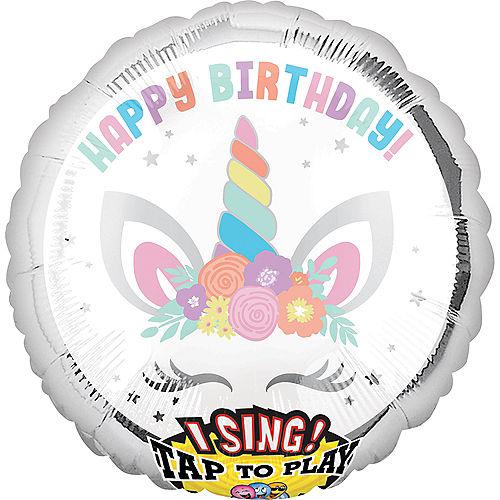 Giant Singing Unicorn Party Balloon Image #1