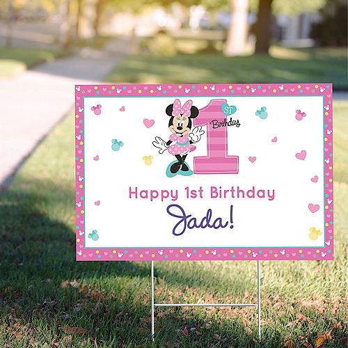 Custom Minnie's Fun to be 1 Yard Sign Image #1