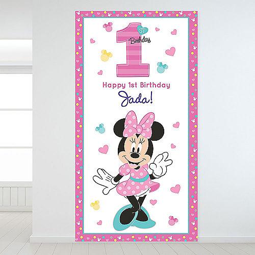 Custom Minnie's Fun to be 1 Backdrop Image #1