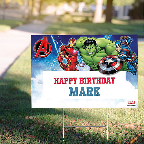 Custom Epic Avengers Yard Sign Image #1