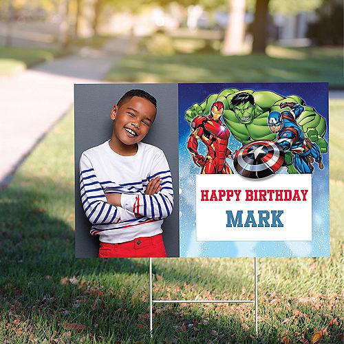 Custom Epic Avengers Photo Yard Sign Image #1