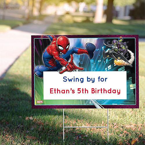 Custom Webbed Wonder Spider-Man Yard Sign Image #1