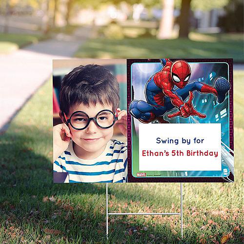 Custom Webbed Wonder Spider-Man Photo Yard Sign Image #1