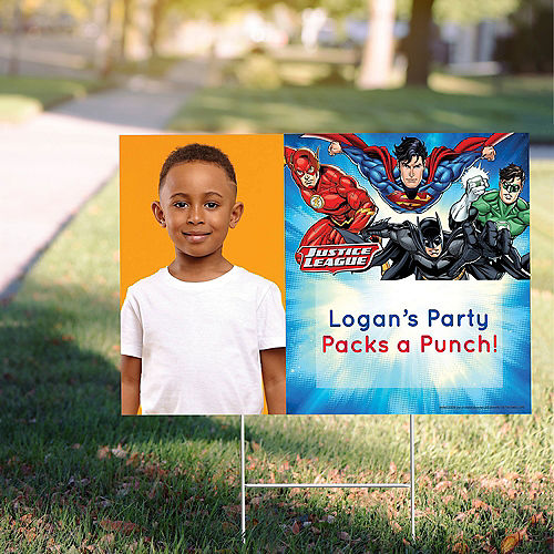 Custom Justice League Photo Yard Sign Image #1