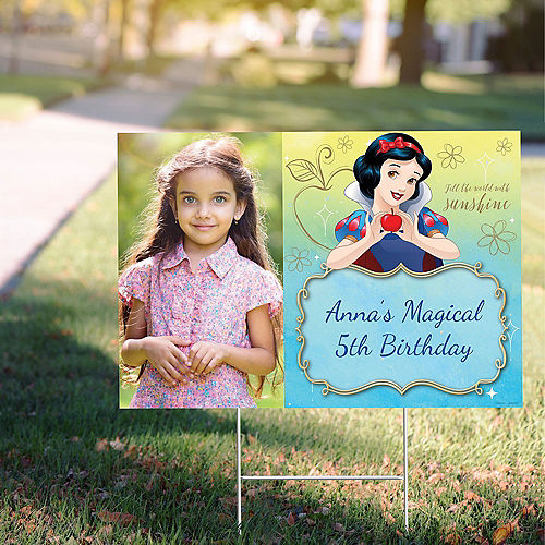 Custom Snow White Once Upon a Time Photo Yard Sign Image #1