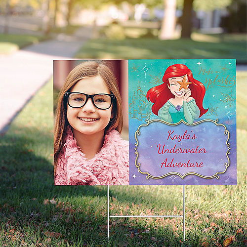 Custom The Little Mermaid Ariel Dream Big Photo Yard Sign Image #1