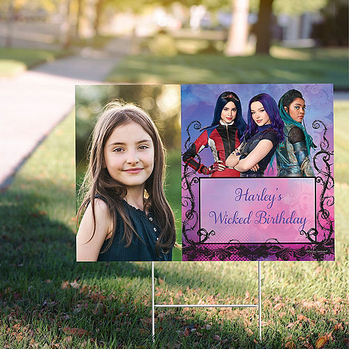 Custom Descendants 3 Photo Yard Sign Image #1