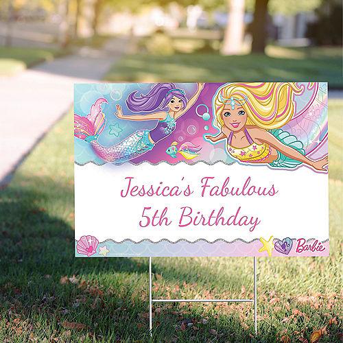 Custom Barbie Mermaid Yard Sign Image #1