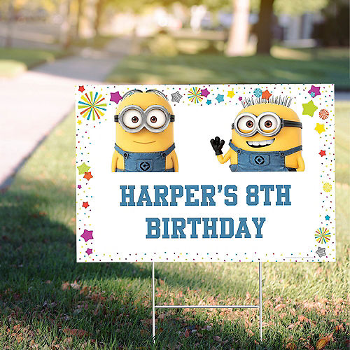 Custom Despicable Me 3 Yard Sign Image #1