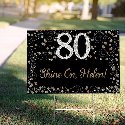 Custom Sparkling Celebration 80 Yard Sign Image #1