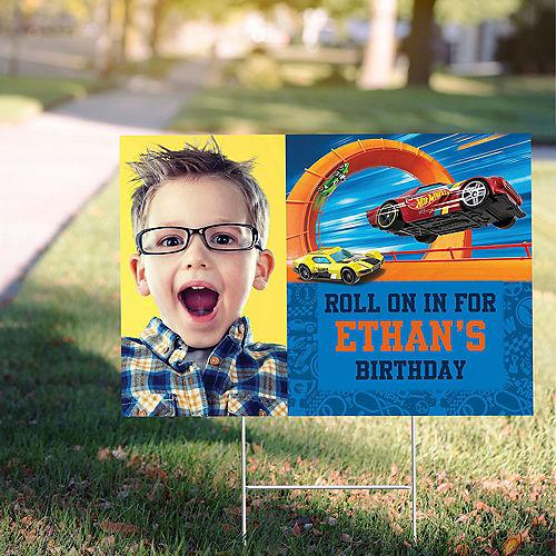 Custom Hot Wheels Wild Racer Photo Yard Sign Image #1