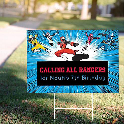 Custom Power Rangers Ninja Steel Yard Sign Image #1