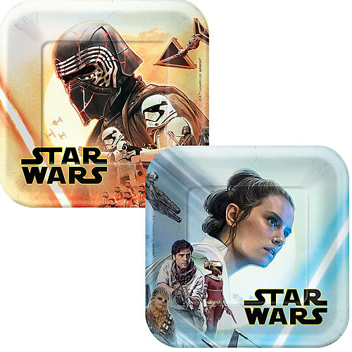 Star Wars 9 The Rise of Skywalker Dessert Plates 8ct Image #1