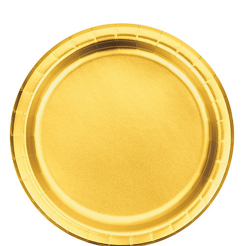 Metallic Gold Lunch Plates 8ct Image #1