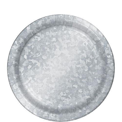 Galvanized Dessert Plates 8ct Image #1