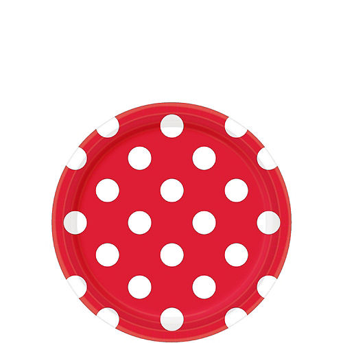 Red Polka Dot Tableware Kit for 16 Guests Image #2