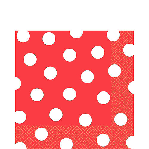 Red Polka Dot Tableware Kit for 16 Guests Image #5