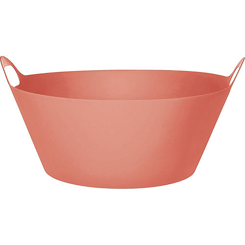 Bright Coral Plastic Party Tub, 8gal Image #1