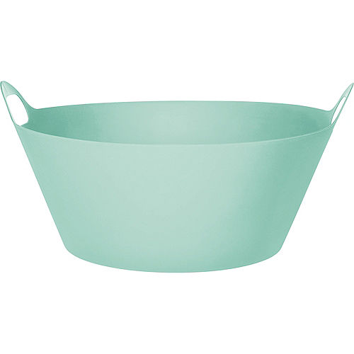 Cool Mint Plastic Party Tub, 8gal Image #1