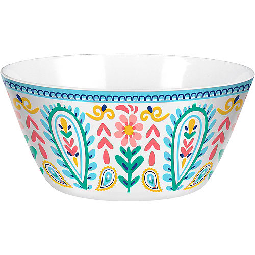 Boho Vibes Plastic Serving Bowl Image #1