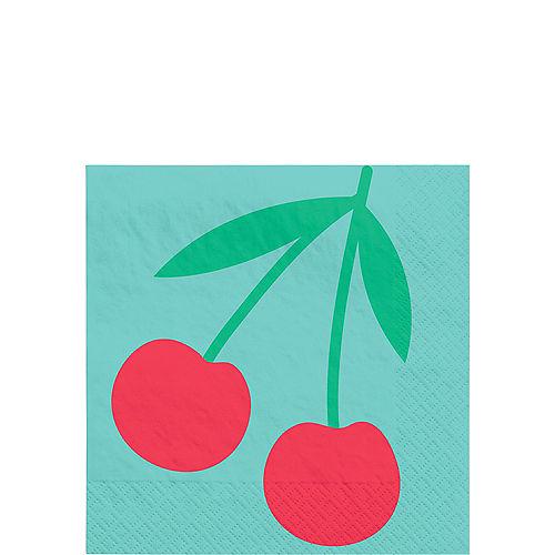 Tutti Frutti Cherry Beverage Napkins, 5in, 16ct Image #1