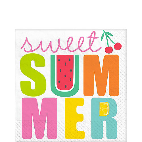 Tutti Frutti Sweet Summer Lunch Napkins, 6.5in, 16ct Image #1