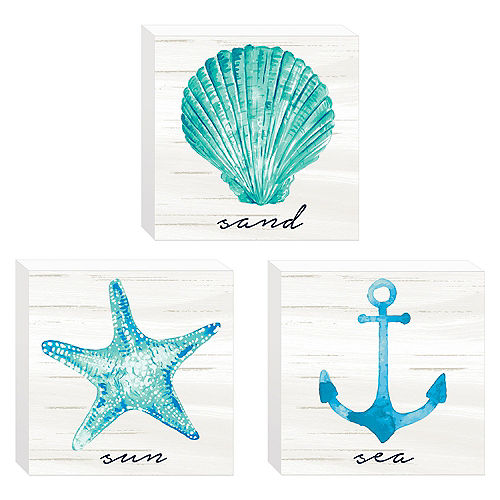 Mini Sea, Sand & Sun Block Signs, 3ct Image #1