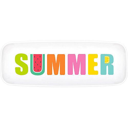 Tutti Frutti Summer Plastic Rectangular Platter Image #1