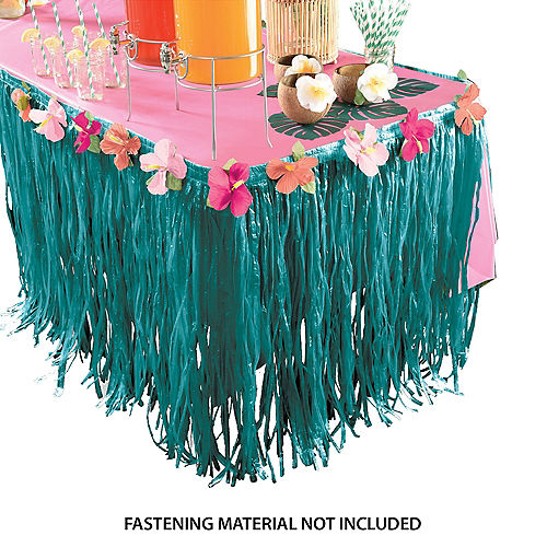 Aloha Hibiscus & Grass Table Skirt Image #1