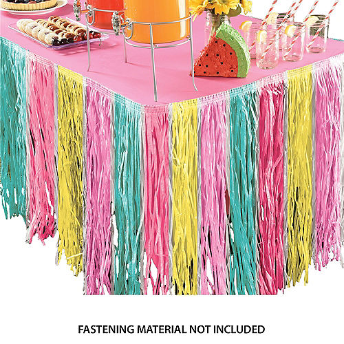 Pastel Just Chillin Grass Table Skirt Image #1
